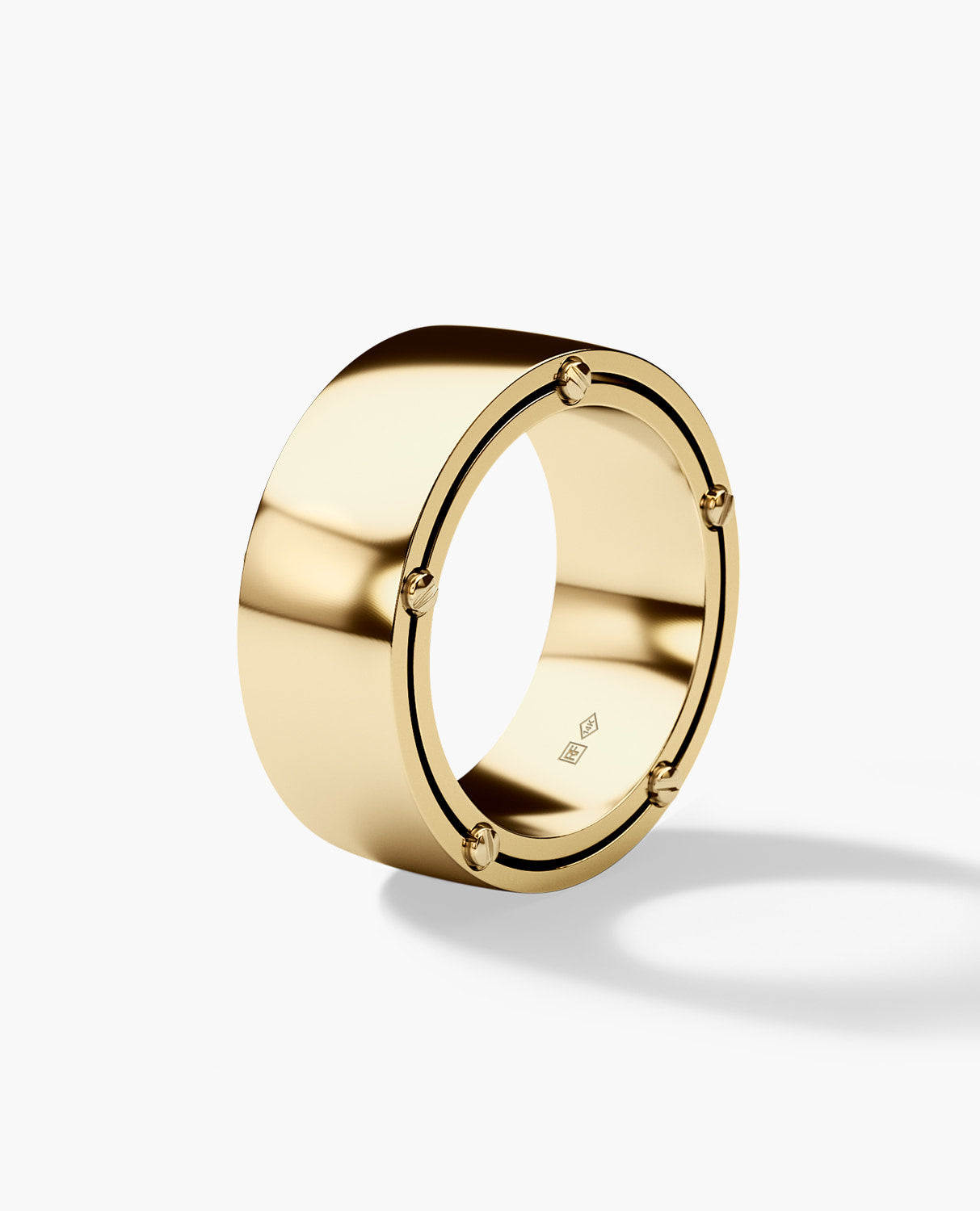 FRANKLIN Mens Gold Wedding Band