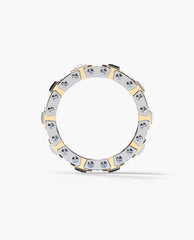 LA PAZ Mens Two-Tone Gold Wedding Band with 1.20ct Diamonds