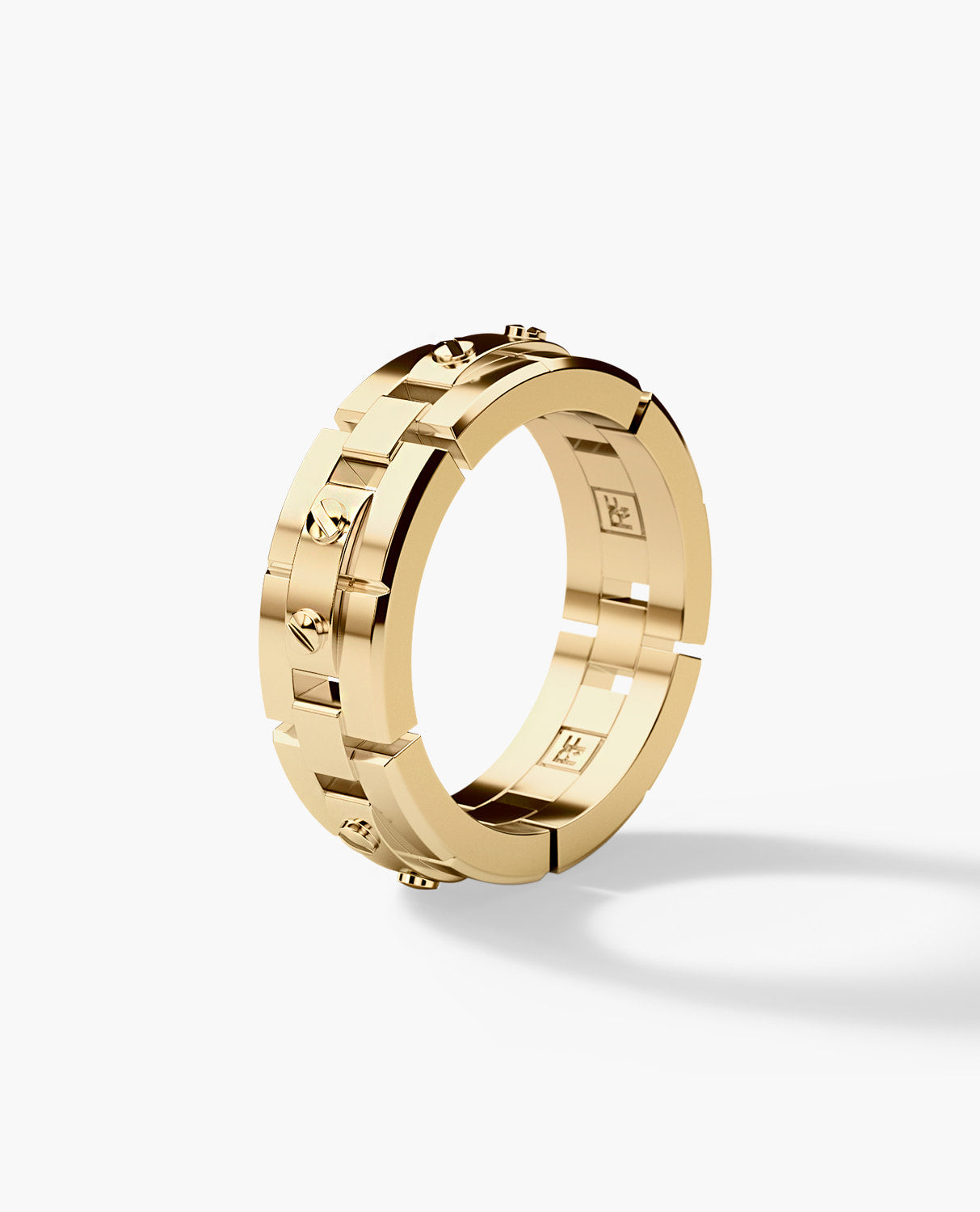 REX Mens Gold Wedding Band