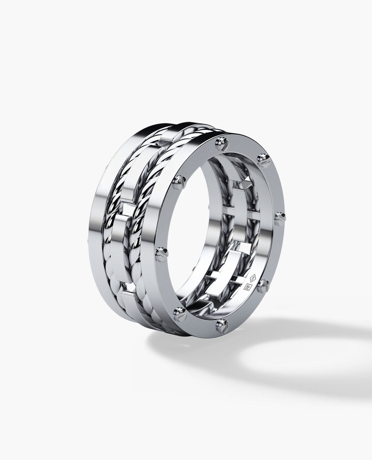 Ropes Gold Wedding Band For Men Rockford Collection
