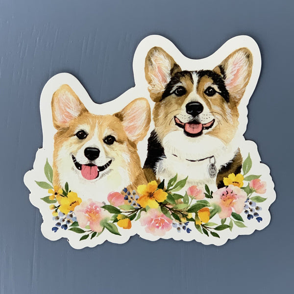 Floral Ralph & George Magnet