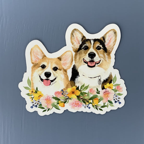 Floral Ralph & George Vinyl Sticker