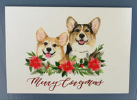 5 Pack - Ralph & George Merry Corgmas Cards
