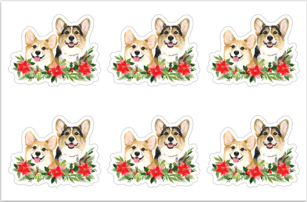 Ralph & George Corgmas Sticker Sheet
