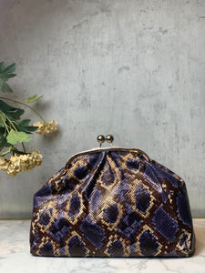 Clutch Snake Print - Paars - LEATHER -  Art.Code: 44463841