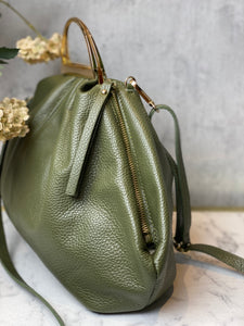 Handtas look a like bottega veneta LEATHER - Kaki - Art.Code: 44460034