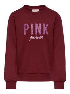 ONLY KIDS -  SWEATER  TEKST PINK - Art.Code: 44469031