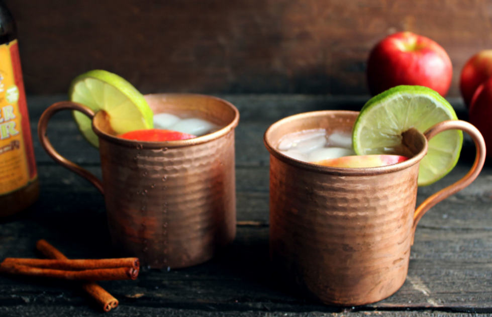 Recipe for Apple Cider Moscow Mules from Style and Spice