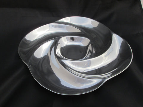 Silver Swirl Appetizer Tray - Pewter Serving Tray