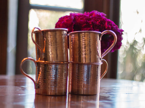 Moscow Mule Mug Set of 4 - Hammered Copper