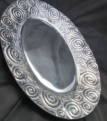 Pewter Serving Tray - Large Serving Tray