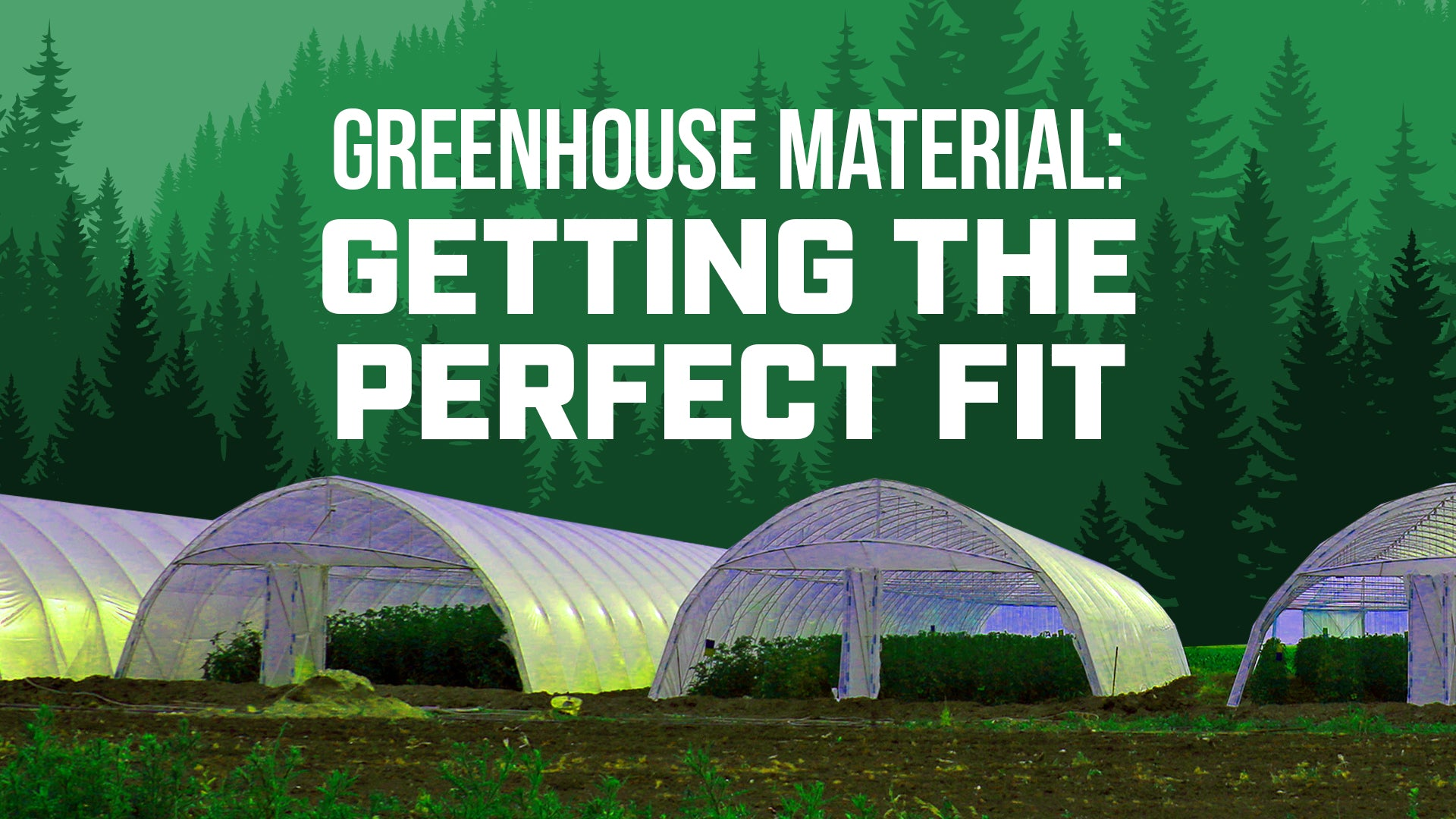Greenhouse Material: Getting the Perfect Fit