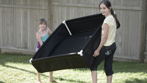 School Garden Network - carrying raised fabric bed
