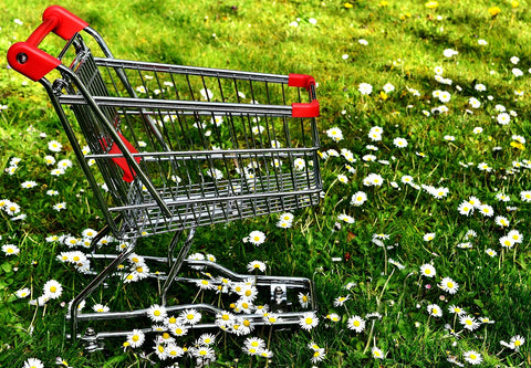Shopping cart for garden supplies