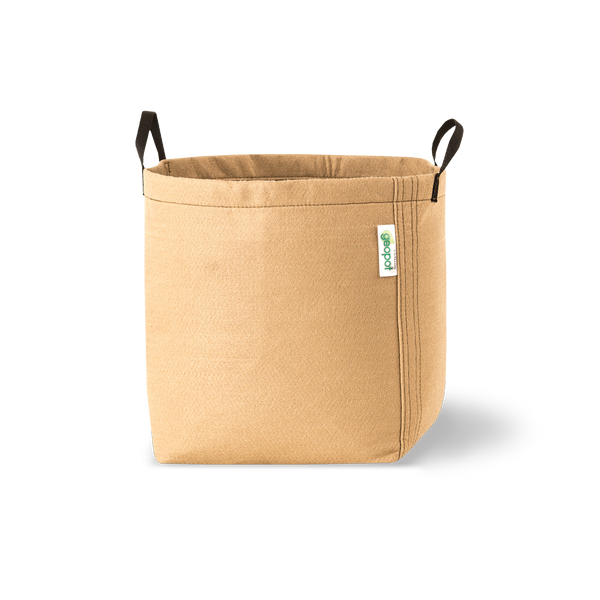 Geopot Fabric Pots - Tan with handles - GeoPot - Left Coast Wholesale