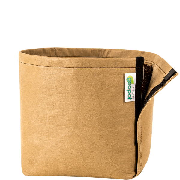 Tan GeoPot Transplanter with Velcro - Left Coast Wholesale