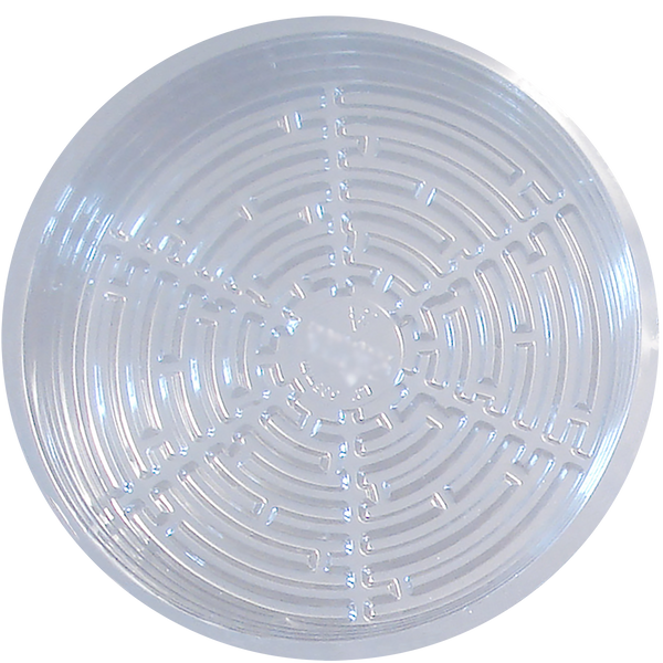Clear Round Plastic Saucers - Left Coast Wholesale