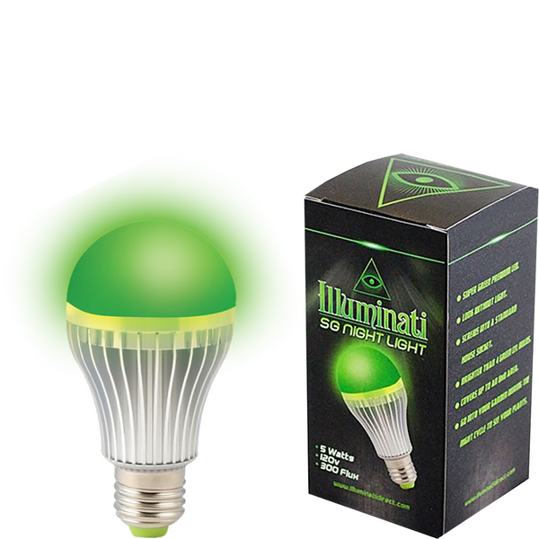 Illuminati Super Green LED Night Light - Left Coast Wholesale