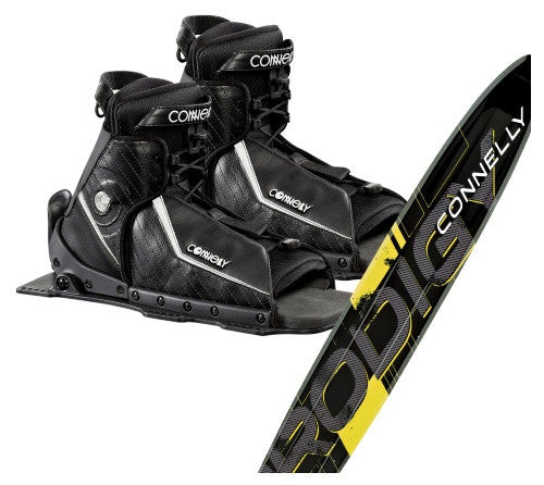Connelly Prodigy Slalom Ski with Double Sidewinder Boots