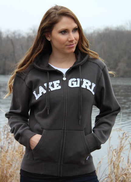Lakegirl Full Zip Classic Hoodie - Forest Green