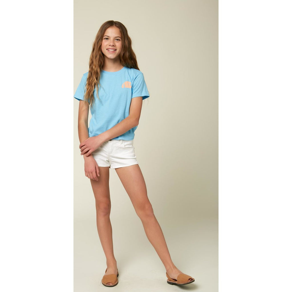 GIRLS S/S SCREEN TEE SURF BREAK