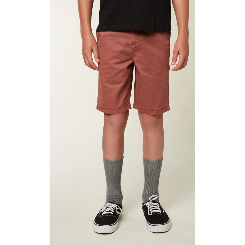 BOYS FIXED WAIST JAY CHINO SHORT
