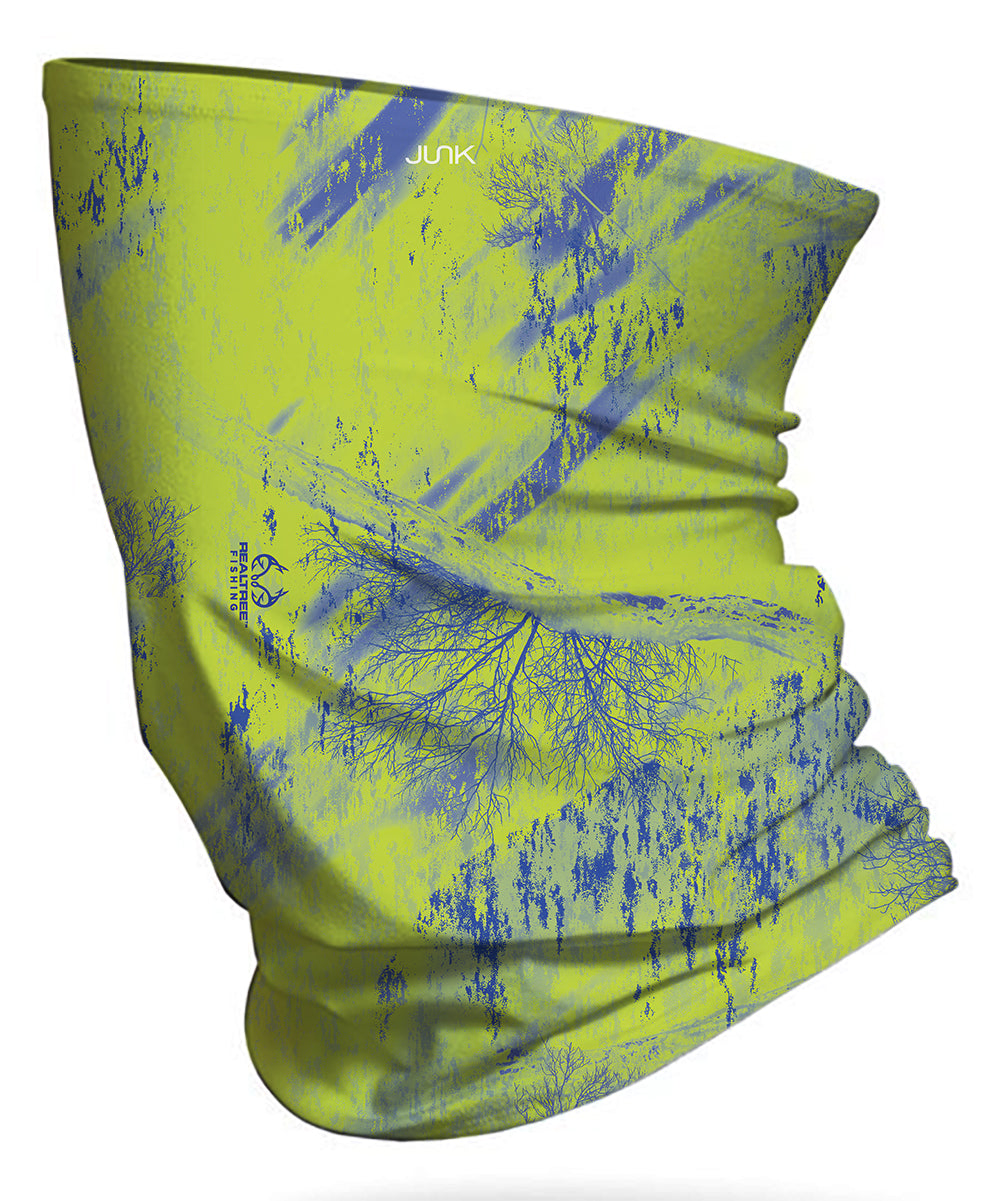 FLW Realtree Fishing Green & Navy Blue Neck Gaiter
