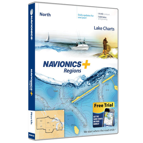 Navionics+ Regions North
