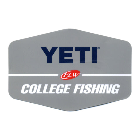 YETI FLW College Fishing Decal