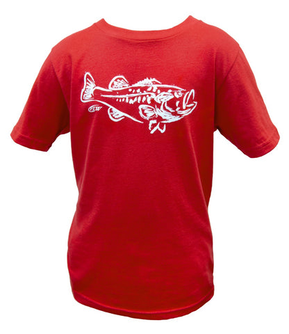 FLW Youth Painted Bass Tee
