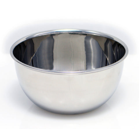Macs Beautiful Deluxe Chrome Shaving Bowl Made Of 18/8 Stainless Steel for Shaving Soap-B2047