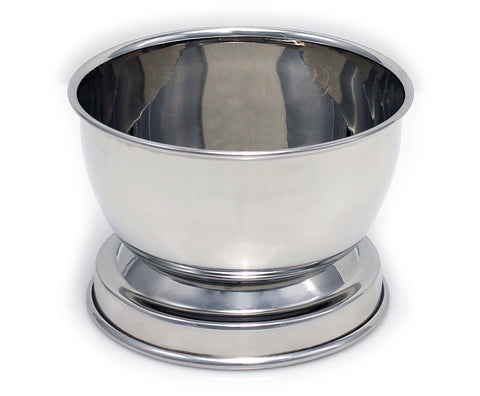 Macs Beautiful Deluxe Chrome Shaving Bowl Made Of 18/8 Stainless Steel for Shaving Soap-B2046