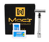 33C Macs Razor Brand Double Edge Blade Safety Razors-With 10 Free Blades -2045