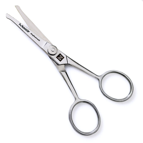 Macs Professional ,Beard & Mustache Scissors With Adjustable Nob,Precise Facial Hair Trimming - Sharpness and Stainless Steel Give These Scissors Durability That Will Last, -60105
