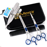 "Macs Professional Barber Scissor Razors Edge Hair Cutting Scissors Set Contain 5 Pcs 6"" Barber Shears /Scissors With 6"" Texturizing /Thinning Shears Set Made Of Japanese High Grade Stainles Steel -15031"