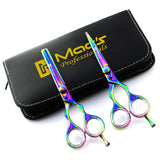 "Macs Professional Titanium Barber Scissor Razors Edge Hair Cutting Scissors Set Contain 5 Pcs 6.25"" Barber Shears /Scissors With 6.25"" Texturizing /Thinning Shears Set Made Of  J440 Japanese High Grade Stainless Steel -15029"