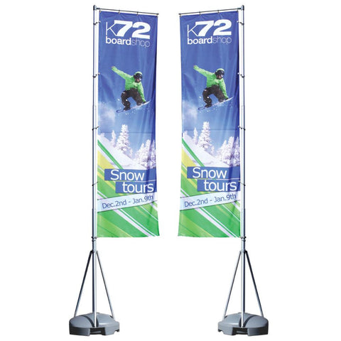 13ft Mondo Flagpole Double-Sided Graphic Package