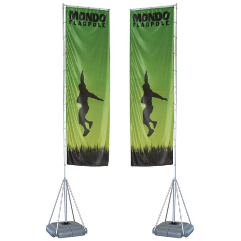 17ft Mondo Flagpole Double-Sided Graphic Package
