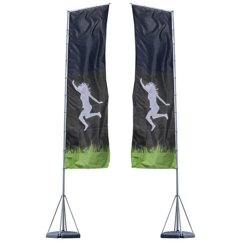 23ft Mondo Flagpole Double-Sided Graphic Package