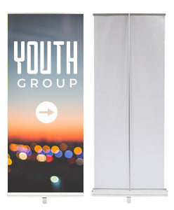 "EasyPull Retractable Banner Stand 24"" Graphic Package"