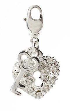 Charms - Heart & Key Charm