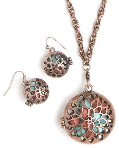 Earrings - Circle Locket Earrings