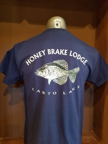 Adult Navy HB Crappie Larto Lake Short Sleeve T-shirt