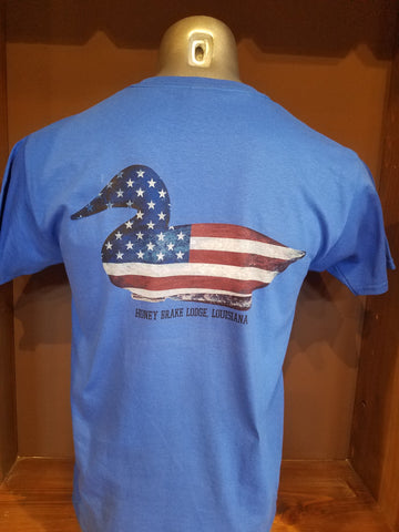 Youth Blue HB Patriotic Duck T-shirt