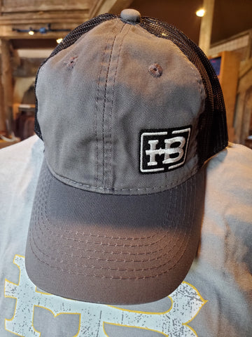 HB Charcoal/Black Unstructured Hat
