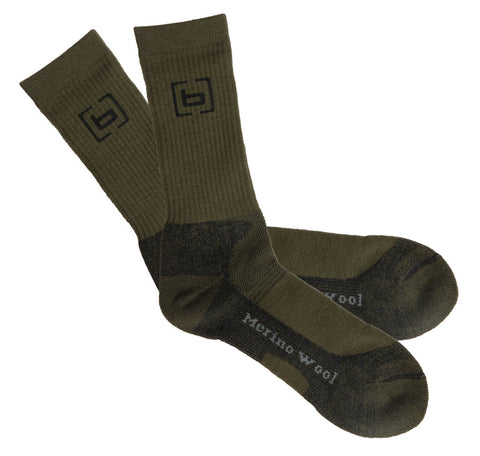 Banded Base Midweight Calf Length Merino Wool Socks