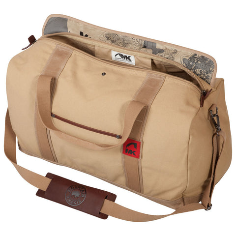 Mountain Khaki Canvas Duffle Bag- Small