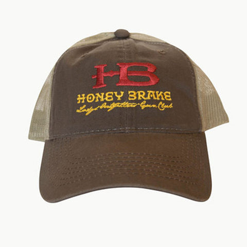 HB Guide Trucker Hat-Brown with Lodge, Outfitter, Gun Club
