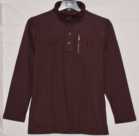 Banded Honey Brake Pullover - Wine with HB Logo