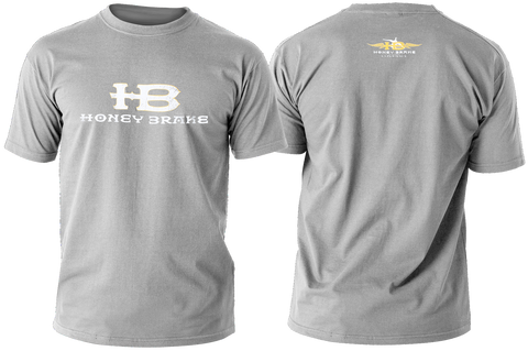HB Logo/Honey Brake Experience Adult Gray T-Shirt